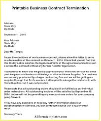 3 Free Business Contract Termination Letter Templates All