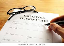 Employee Termination Form On Desk Business Stock Photo (Royalty Free ...
