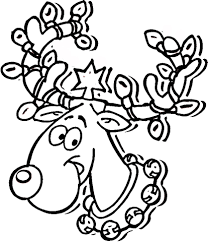 Small Picture Christmas Lights on Reindeer Antlers coloring page Free