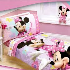 disney minnie mouse 4 piece toddler bedding set designs pertaining to comforter idea 2