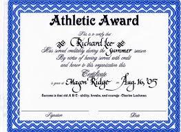 Sample Award Certificates Cactusdesigners Com