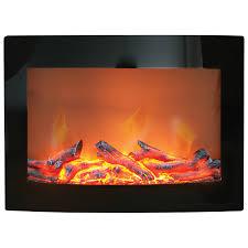 paramount daniel wall mounted electric fireplace 4600 btu black