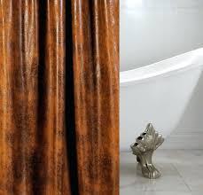 cognac leather custom shower curtain cognac cognac brown leather texas longhorn shower curtain hooks shower pics