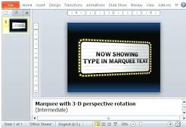 Movie Powerpoint Template Insert Marquee Slide To Any Movie Themed Presentation