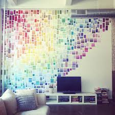 6. Use paint chips to cover an entire wall.