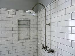 large white subway tile shower