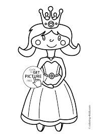 Small Picture Cute Princesse Coloring pages for girls printable coloring pages