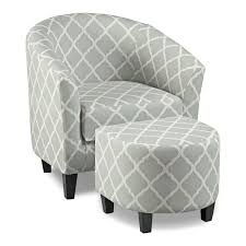 sperrie accent chair and ottoman gray