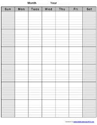 Monthly Calendar With Lines | Visual Schedule Template