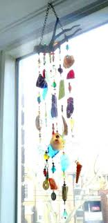 glass windchimes driftwood glass wind chimes diy