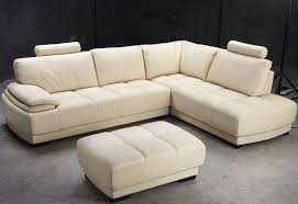image of best beige leather sofa
