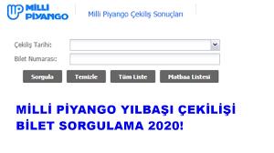 Milli Piyango yılbaşı çekilişi bilet sorgulama 2020! | Milli Piyango  sonuçları tam liste sorgu ekranı | www.mp