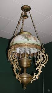 antique victorian hanging gas light