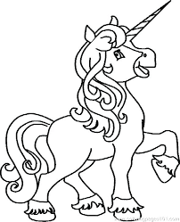 Coloring Pages Free Print This Page Printable Unicorn Birthday Cute