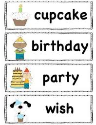 Birthday Words Birthday Words Preschool Word Walls
