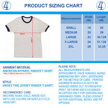 American Apparel Youth Size Chart Basic American Apparel T Shirt Sizes Coolmine Community School