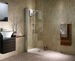 minimalist walk-in shower with frameless glass panel no door built-in  chrome wall