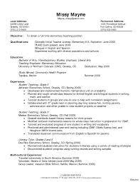 Resume Education Examples Elementary Teacher Resume Education Examples 100a 100 Samples 93