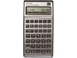 Financial Calculator Hp 17bii Financial Calculator Silver