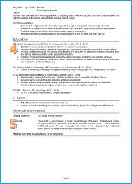 School Leaver Resume Template 24 CV Samples With Notes And CV Template UK 16