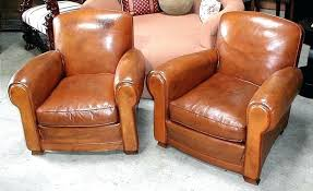 vintage leather club chair french chairs humpback pair item cigar english vintage leather club chair