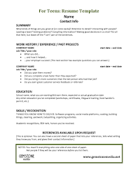 Resume Toddler Teacher Resume