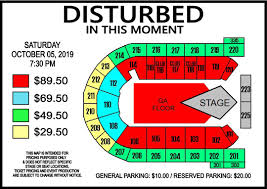 Rocklahoma Seating Chart Disturbed Presented By 979x Mohegan Sun Arena