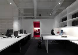 minimalist office design. stylish interior office design minimally added with catchy red door minimalist