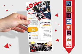Auto Repair Flyer Rack Card Car Auto Repair Dl Flyer Vol 01