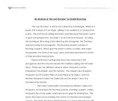an analysis of my last duchess by robert browning a level  document image preview