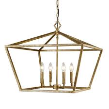 3294 vg corona vintage gold four light lantern pendant