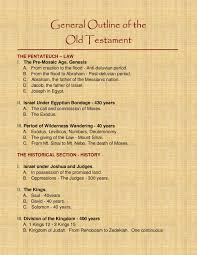 General Outline Of The Old Testament Bible Charts Pages 1
