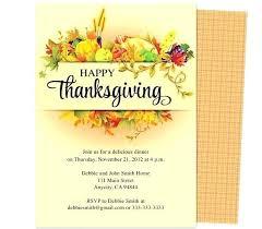 Thanksgiving Invitation Templates Free Word Onvacationsite