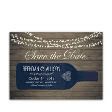 What Are Save The Date Cards Vineyard Wine Bottle Save The Date Cards With Color Options