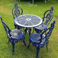 cast iron table garden chair set