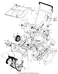 cub cadet 321 (1991 hm) 311 180 100 (hm 1991) snow thrower Poulan Electric Start Snow Blower Parts Snow Blower Engine Diagram #42