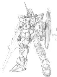 unicorn gundam by dartstriker on deviantart