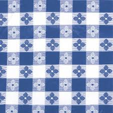 Tablecloth Pattern Awesome 48 Inch X 48 Inch Blue Check Vinyl Table Cloth