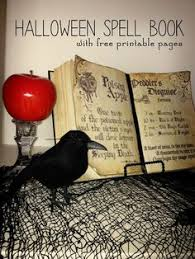 diy spell book includes free printable spell book pages great for a party table decoration
