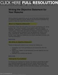What Does An Objective Mean On A Resume Resume Work Template