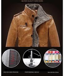 plus size m 4xl leather suede slim fit jacket men winter coat thickening wool waterproof warm