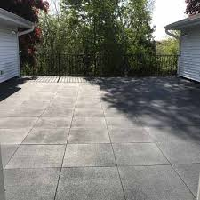 sterling gray patio rubber tile 2 inch outdoor rubber flooring
