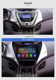 Android 10 0 For Hyundai Elantra Lhd 2011 2013 Radio Replacement With Aftermarket Car Bluetooth Gps System 2 5d Ips Screen 4g Wifi Obd2 Aux Hd 1080p Video Dvr Elantra Hyundai Elantra Hyundai
