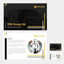 Memorandums And Letters Powerpoint Bold Serious Automotive Powerpoint Design For Tdn Group