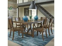 Standard Furniture Nelson 7 Piece Industrial Style Dining Set With