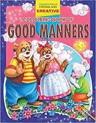 book cover page maker good manners creative colouring books
