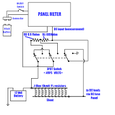 amp meter wiring diagram wirdig amp meter for my rig this allows you to use the one panel meter to