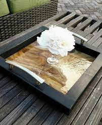 serving tray ottoman coffee table