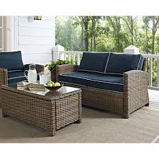 top crosley bradenton outdoor wicker loveseat with navy cushions about furniture designs crosley patio furniture n7