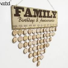 Birthday Anniversary Calendar Diy Wooden Calendar Family Birthday Anniversary Wall Calendar Sign